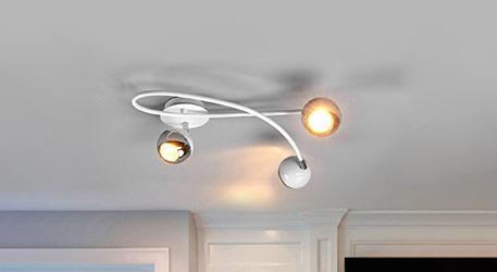 Formschöne LED-Deckenleuchte Arvin in Weiß