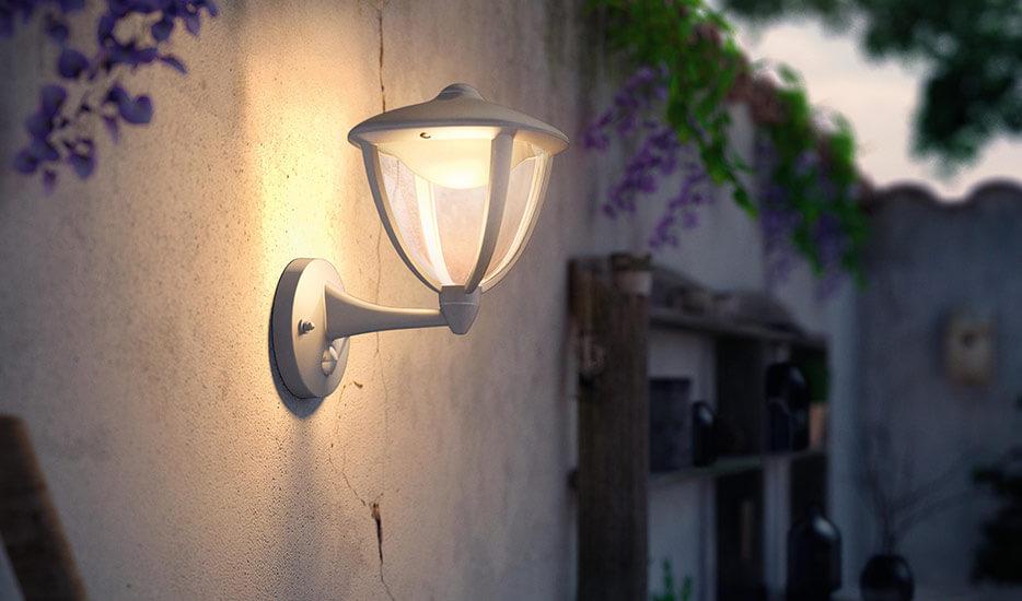 Robin - LED-udendørs væglampe, bevægelsessensor