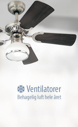 Ventilatorer - Behagelig luft hele året