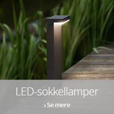 LED-sokkellamper til udendørs brug