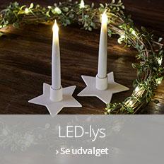 LED-lys i juletiden: Trygt og hyggeligt