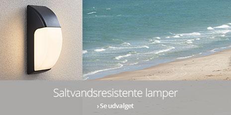 Saltvandsresistente lamper