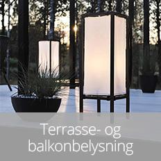 Til terasse- og balkonbelysning