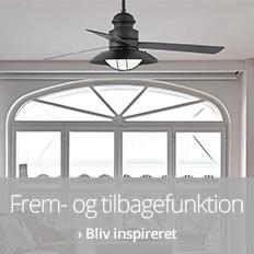 Ventilatorer med frem- og tilbagefunktion