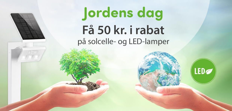 50 kr rabat på LED- og solcellelamper!