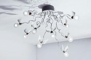 Ingo Maurer Birdie's Nest LED-loftlampe