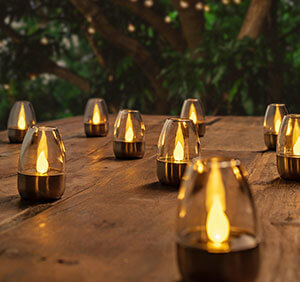 LED solcelle bordlampe Pedas