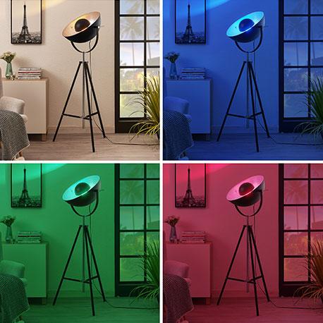 Lindby Smart trebenet LED-gulvlampe Muriel