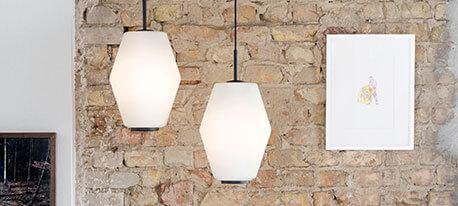 Designer-glashængelampe Dahl