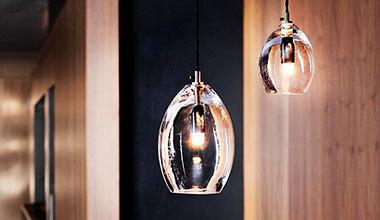 Unica glashængelampe