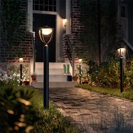 Sort LED-vejlampe Robin