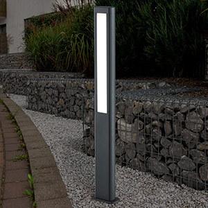 LED-vejlampe Rhine i lige linjer