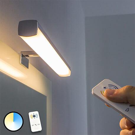 LED-spejllampe Atlas - regulerbar lysfarve
