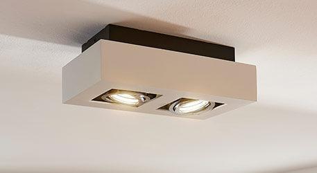 LED-projektør Vince i hvid, 2 lyskilder