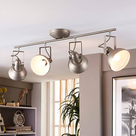 Nikkelfarvet LED køkkenlampe Tameo