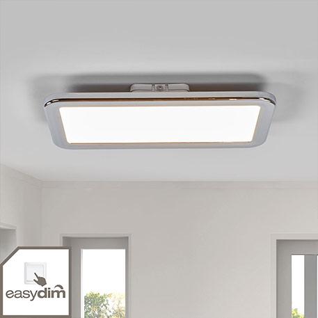 Forkromet LED-badeværelse loftslampe Filina, easydim