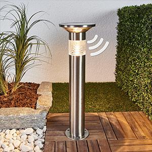 solcellelamper med sensor