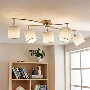 tekstil loftlampe