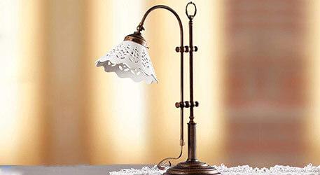 bordlampe landlig rustik stil