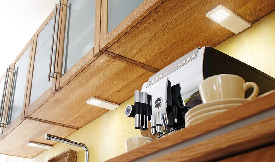 Komfortabel armatur-lampe LED Slim-Pad F, hvid