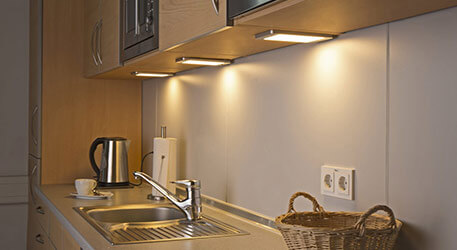 3'er sæt LED-påbygningslampe Sascha med sensor