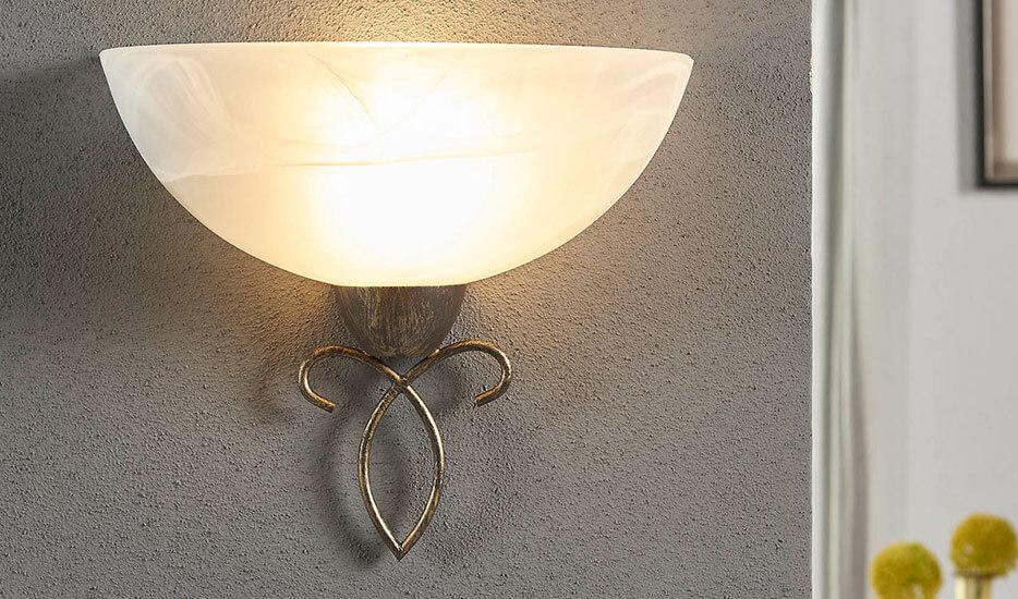 Væglampe landlig rustik stil