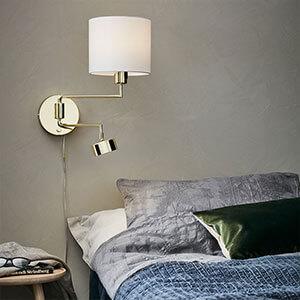 væglampe tekstilskærm