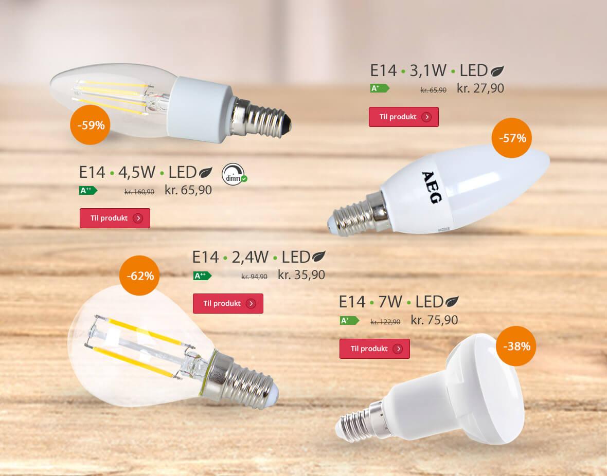 E14-lyspærer