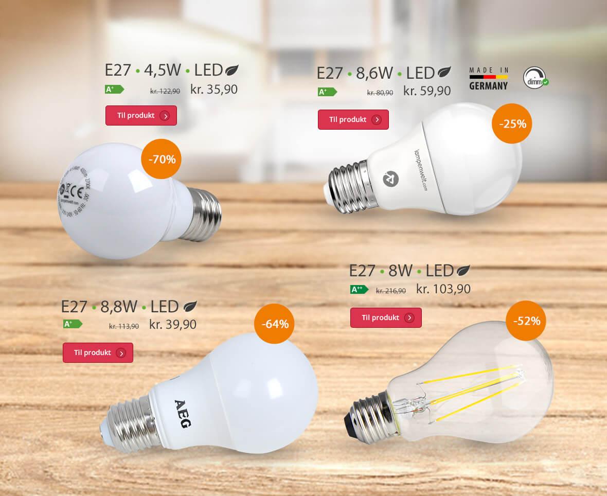 E27-lyspærer