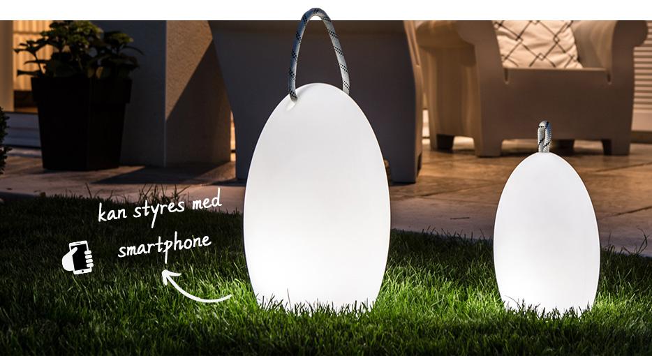 Smarte bærbare lamper