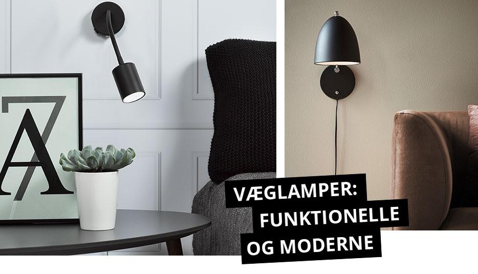 Væglamper: funktionelle og moderne