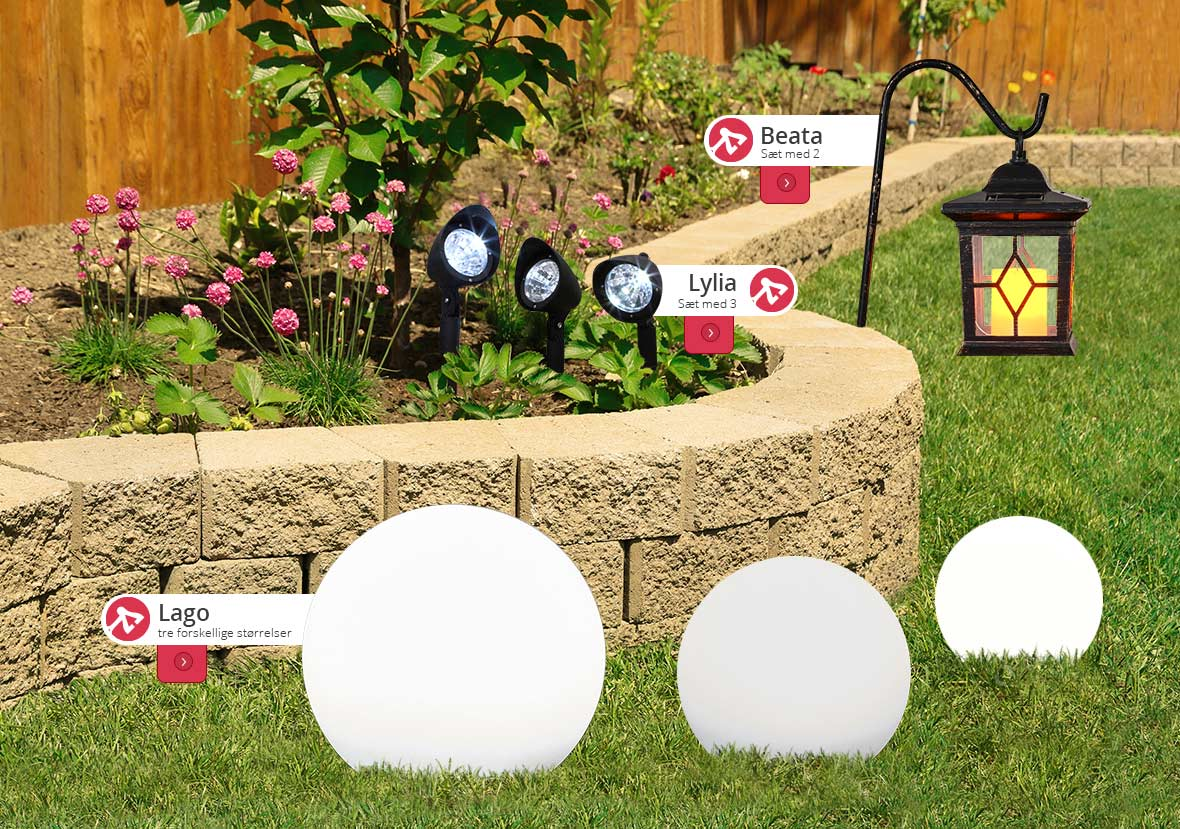 solcellelamper, dekorative og energibesparende lamper