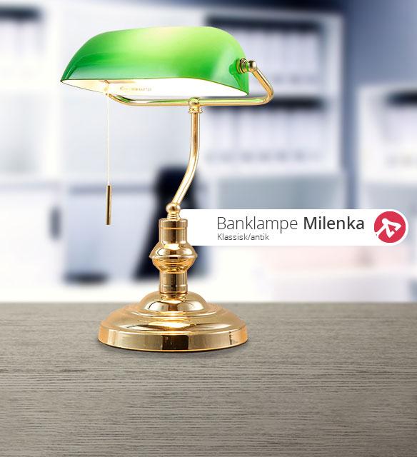 Milenka polert banklampe fra Lampenwelt.com