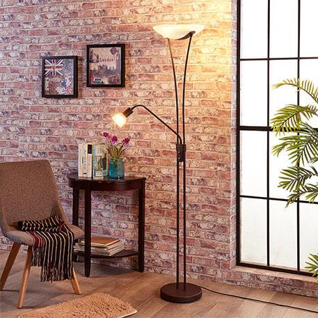 Dæmpbar LED uplight lampe Felicia i rustlook